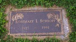 Rosemary <I>La Bie</I> Schropp