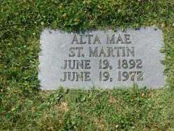 Alta Mae <I>Tate</I> St. Martin