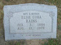 Elsie Cora <I>Newlin</I> Rains