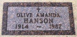 Olive Amanda <I>Nelson</I> Hanson