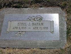 Ethel Claire <I>Johnston</I> Baham
