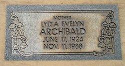 Lydia Evelyn <I>Reick</I> Archibald - Mudick