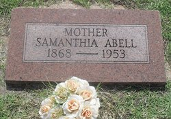 Samanthia Jane <I>Searcy</I> Abell