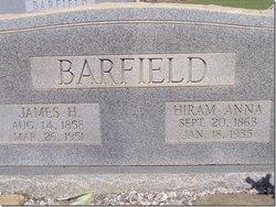 "Hiram Anna P ""Annie"" <I>Aultman</I> Barfield"