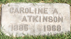 Caroline Ann <I>Webb</I> Atkinson