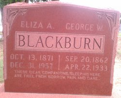 Eliza A <I>Blackburn</I> Blackburn