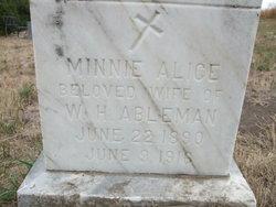 Minnie Alice <I>Miller</I> Ableman