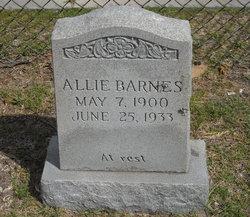 Allie <I>Burgess</I> Barnes