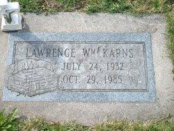 """Lawrence William """"Sonny"""" Karns"""