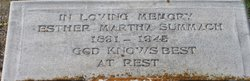 Esther Martha Mary <I>Krieger</I> Summach