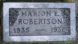 Marion E Robertson