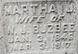 Martha J <I>Oliver</I> Buzbee