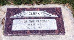 Rhea Mae <I>Freeman</I> Clark