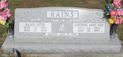 Gwendda Anne <I>Tier</I> Rains