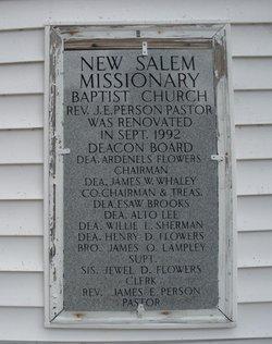 New Salem Missionary Baptist Church Cemetery