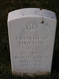 George D Simpson