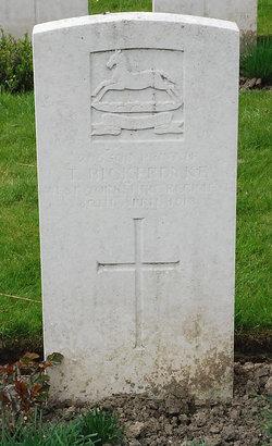 Rifleman T Bickerdyke