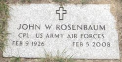 John William Rosenbaum, Sr