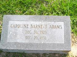 Caroline Eliza <I>Barnett</I> Adams