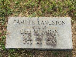 Camille <I>Langston</I> Fagan