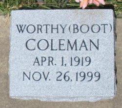 "Worthy ""Boot"" Coleman"