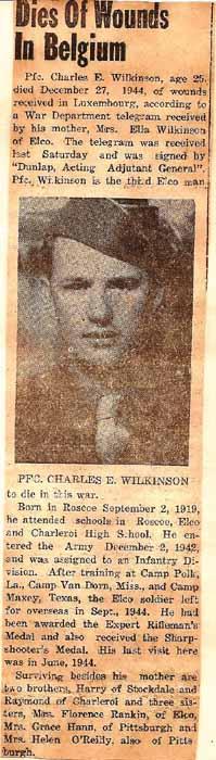 PFC Charles E Wilkinson