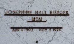 """Josephine """"Mem"""" <I>Hall</I> Burger"""