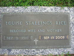 Addie Louise <I>Stallings</I> Rice
