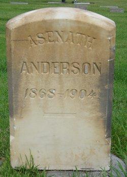 """Asenath """"Sina"""" <I>Tillotson</I> Anderson"""
