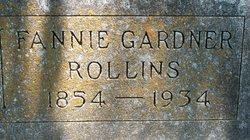 "Fannibel G ""Fannie"" <I>Gardner</I> Rollins"