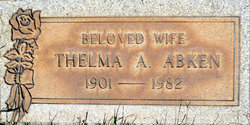 Thelma A <I>Andrew</I> Abken