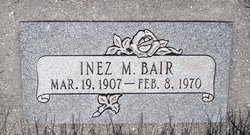 Inez Margaret <I>Brooks</I> Bair