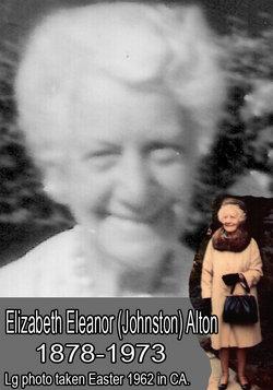 Elizabeth Eleanor <I>Johnston</I> Alton