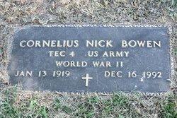 "Cornelius Tyrell ""Nick"" Bowen"