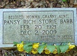 "Pansy Ellene ""Mama Pansey"" <I>Rich</I> Babb"