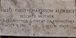 Hazel Evelyn <I>Hardison</I> Aldridge