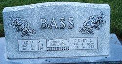 """Sidney George """"Sid"""" Bass"""