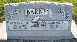 Martha Alice <I>Hill</I> Barnes