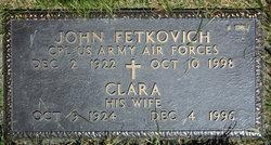 "Clara ""Claire"" <I>Hocker</I> Fetkovich"