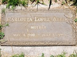 Carlotta <I>Lopez</I> Atkins