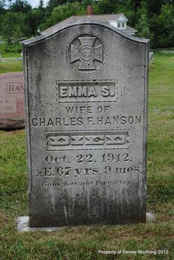 Emma S <I>Plaisted</I> Hanson