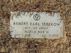 Robert Earl Sebekow, Sr
