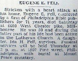 Eugene E Fell
