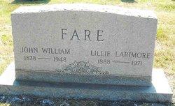 Lillie <I>Larrimore</I> Fare
