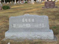 Harriett Emeline <I>Burris</I> Lee