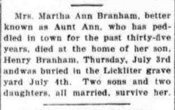 Martha Ann Branham