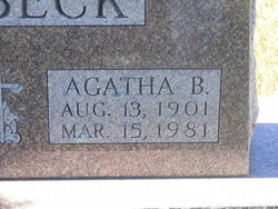 Agatha B. <I>Arnold</I> Ashbeck