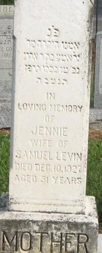 Jennie <I>Kaplaer</I> Levin