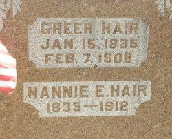 Nannie E Hair