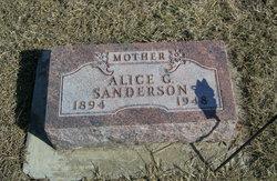 Alice G Sanderson